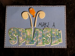 Splash card - Clear Scraps Expressions