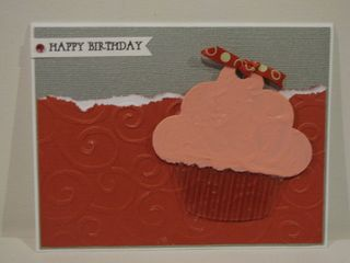 Happy Birthday card 2 - acrylic cupcake