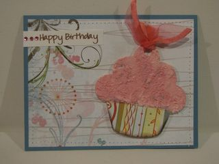 Happy birthday card - acrylic cupcake