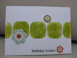Acrylic birthday card with alcohol ink on card