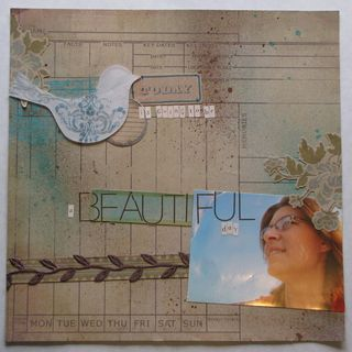 A beautiful day - Scrapbook Magazine Sketch #1 - Cathy Schellenberg