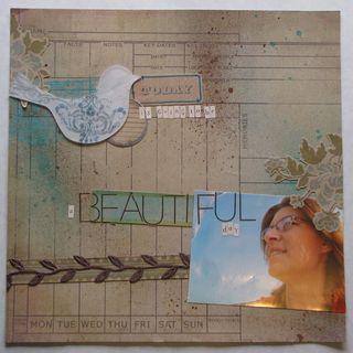 A beautiful day - Scrapbook Magazine Sketch #1 - Cathy Schellenberg