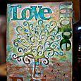 Hope, Love, Faith Canvas by Adora
