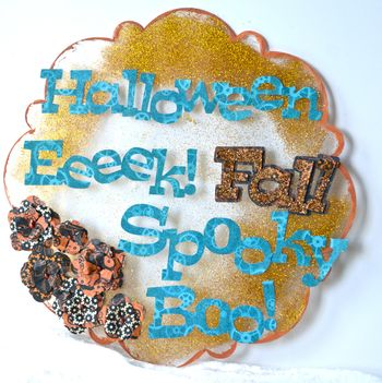 Halloween Wall Hanging Clear Scraps October Kit Pinky Hobbs1