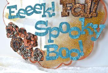 Halloween Wall Hanging Clear Scraps October Kit Pinky Hobbs3