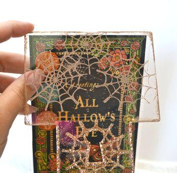 Spiderweb Card Tutorial Clear Scraps October Kit Pinky Hobbs17