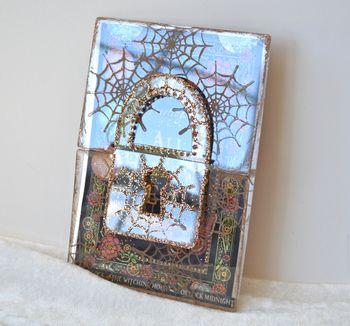 Spiderweb Card Tutorial Clear Scraps October Kit Pinky Hobbs15