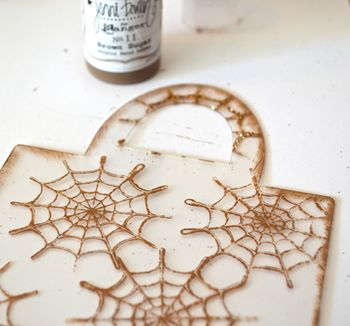 Spiderweb Card Tutorial Clear Scraps October Kit Pinky Hobbs08