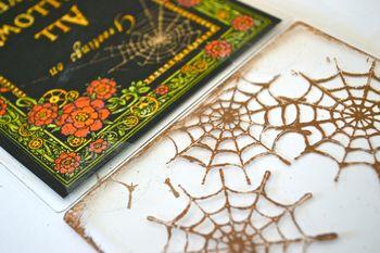 Spiderweb Card Tutorial Clear Scraps October Kit Pinky Hobbs13