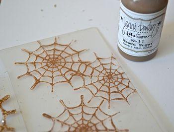 Spiderweb Card Tutorial Clear Scraps October Kit Pinky Hobbs07