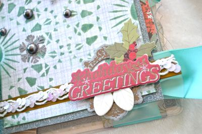 Lindys Clear Scraps Ribbons Unlimited Mini Album Christmas Pinky Hobbs SEI Beacon03