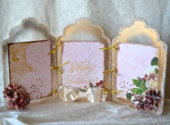 Clear Scraps Christmas Frame Paint Glitter Pinky Hobbs11