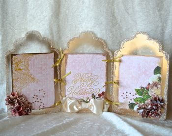 Clear Scraps Christmas Frame Paint Glitter Pinky Hobbs14