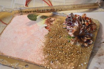 Clear Scraps Christmas Frame Paint Glitter Pinky Hobbs10