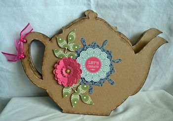 Tea pot mini chipboard mini1