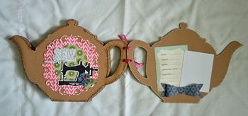 Tea pot mini chipboard mini9