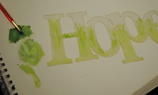 Hope gelato green and gesso grass