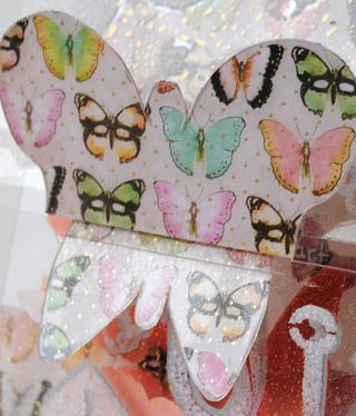 Breaking Free Card butterfly paper application