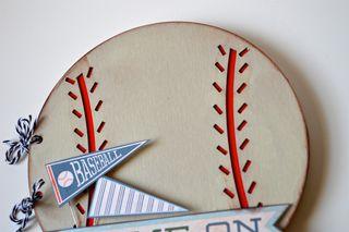 Clear Scrap Baseball Album Pinky Hobbs3