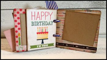April chipboard album kit 7-8