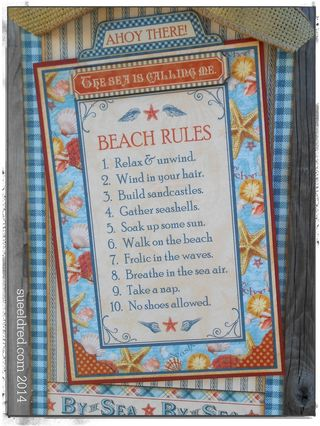 Beach Rules close up