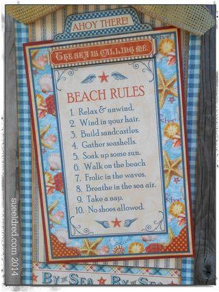 Beach Rules close up