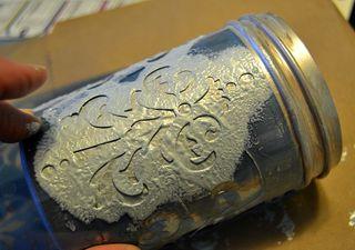 Stenciled mason jars stencil