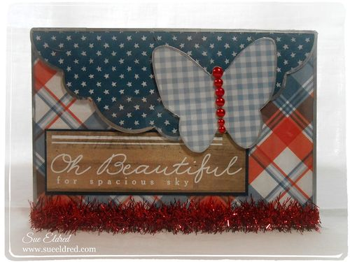 Sue Eldred's Clear Scrap Patriotic Card