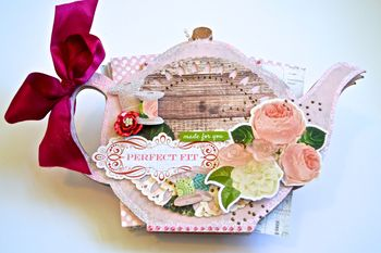 Teapot Album Clear Scraps Creating Made Easy Pinky Hobbs Xyron11