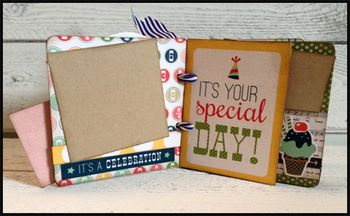 April chipboard album kit 1-2