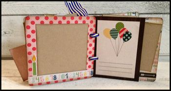 April chipboard album kit 5-6