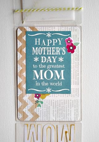MOM card inside