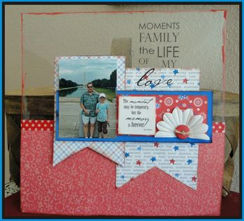 Love the Moments 12x12 layout june kit