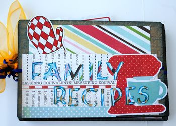 12-family receipe album front cover