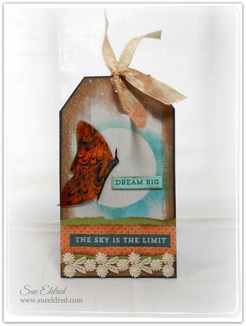 Clearscrap Stazon Butterfly Tag 2