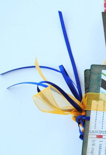 1-family recipe album binding bow