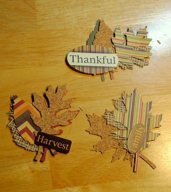 Thanksgiving centerpiece-hanging sculpture leaves embellishment
