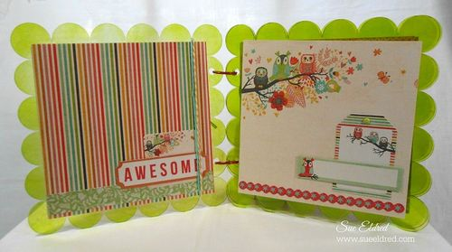 Clear Scrap Kaisercraft Scallop Album pages 1 and 2
