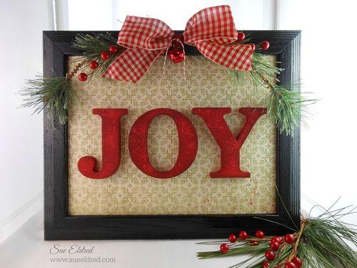 Joy Frame for Clear Scraps