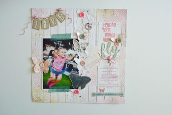 SPREAD YOUR WINGS AND FLY LAYOUT BY NICOLE MANTOOTH