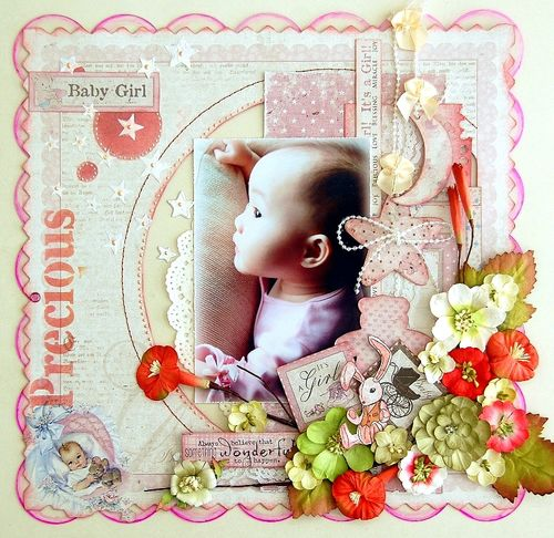 Precious Baby Girl Layout by Irene Tan 01(resize)