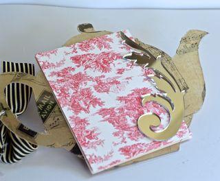 Clear Scraps Acrylic Teapot Mini Album Pinky Hobbs Canvas Corp6