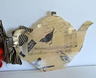 Clear Scraps Acrylic Teapot Mini Album Pinky Hobbs Canvas Corp7