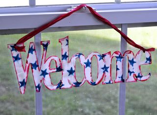 Clear Scraps Welcome Sign Pinky Hobbs Stazon4