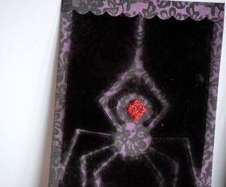 Halloween Spider Acrylic Cards Spray Paint Pinky Hobbs2