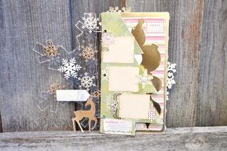 Holiday_mini album_clear scraps