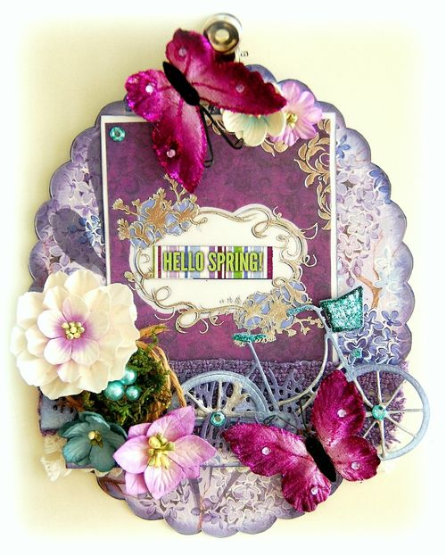 Hello Spring Altered Clipboard by Irene Tan 01