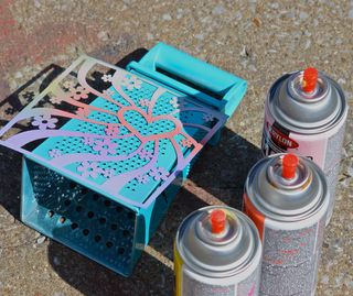 Clear Scraps Stencil Cheese Grater Earring Holder Pinky Hobbs1