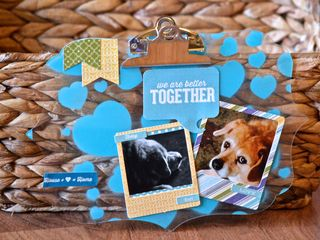 Better Together Acrylic Clipboard Clear Scraps Pinky Hobbs2