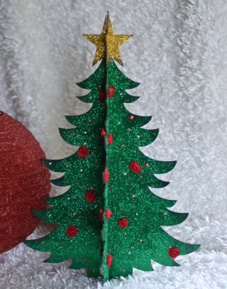 clear scraps christmas tree new release1 - Glitter Christmas Tree